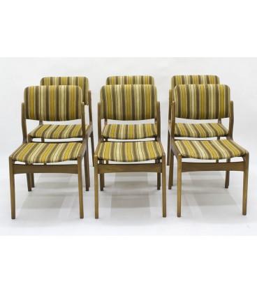 Komplet sześciu krzeseł jadalnianych