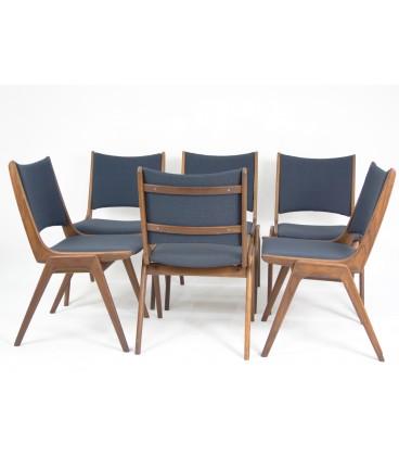 Komplet 6 krzeseł teakowych