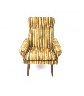 Fotel klubowy - Wełniany z lat 60-tych