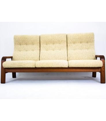 Teakowa sofa trzyosobowa