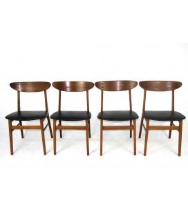Komplet 4 krzeseł jadalnianych - Producent - Farstrup