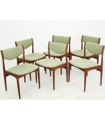 Komplet sześciu jadalnianych krzeseł