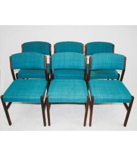 Komplet 6 krzeseł palisandrowych