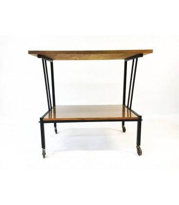 Mobilny stolik/barek, Bauhaus, lata 60-te.