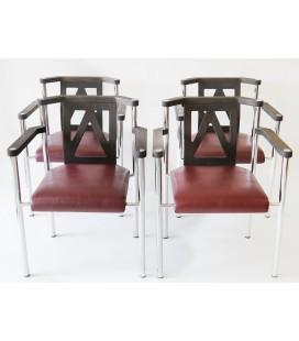 Komplet 4 foteli Kusch & CO, Niemcy, Lata 80-te.
