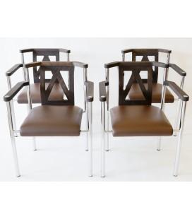 Komplet 4 foteli Produkcji Kusch & CO, Niemcy, Lata 80-te.