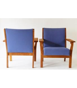 Fotele klubowe. - Hans. J. Wegner, Dania, Lata 60-te.
