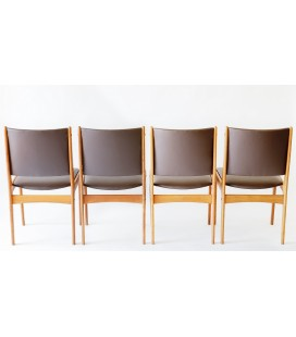 Komplet 4 krzeseł Proj. Johanes Andersen, Dania, Lata 60-te.