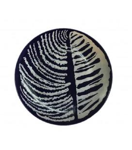 Patera/ talerz dekoracyjny - kompozycja abstrakcyjna, Pruszków, lata 60-te