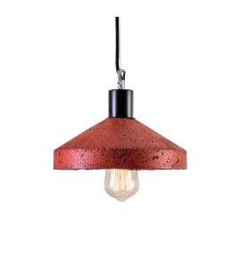 Lampa betonowa ROCKET Red brick