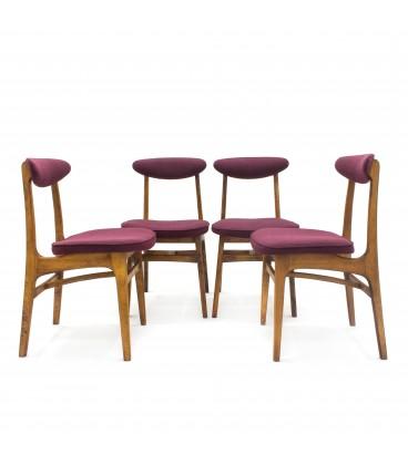 Komplet Czterech Krzeseł
